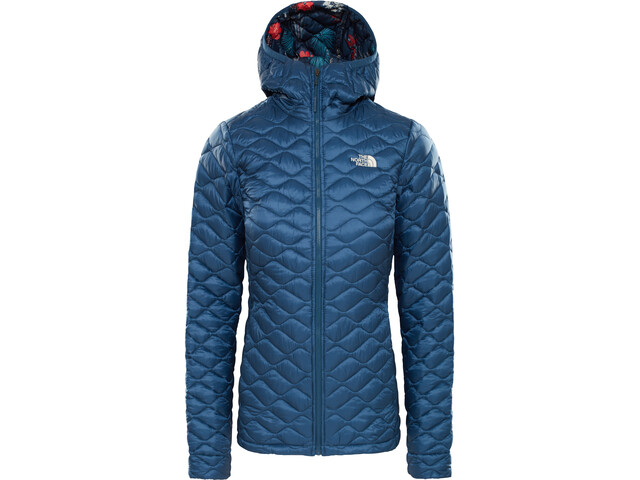 reputable site a3465 8c80e The North Face Thermoball Hoodie Damen blue wing teal/blue wing teal joshua  tree print